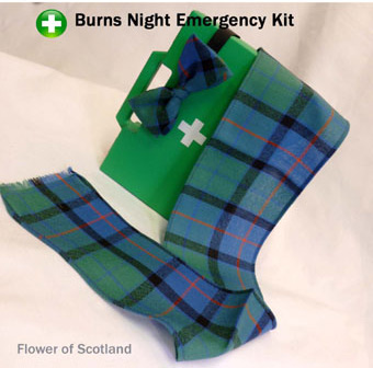 Burns Night Emergency Kit - MINI Sash & Bow-tie