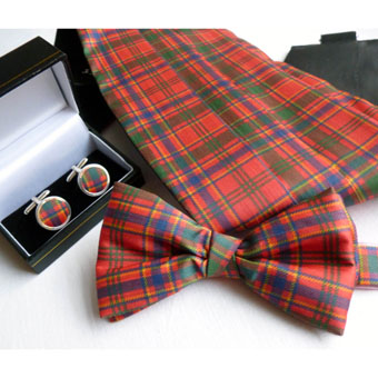 Cummerbund, Bow-tie and Cufflink Set in ANY Tartan