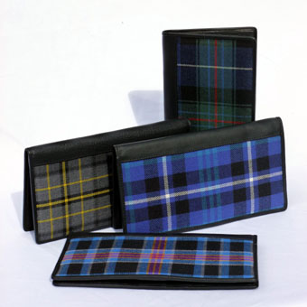 Travel Wallets in Corporate Tartans