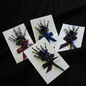 Burns Night, Corsage with Tartan Ribbon