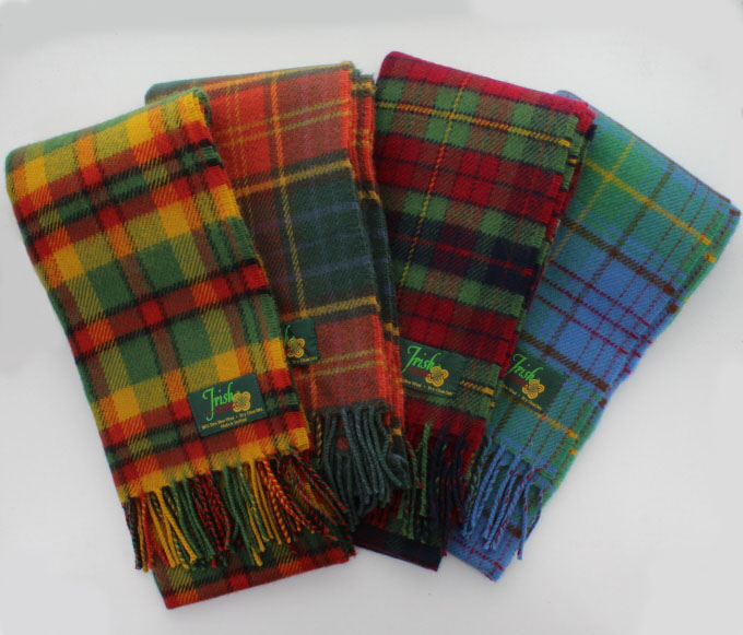 Scarf, Premier Lambswool, IRISH Tartans