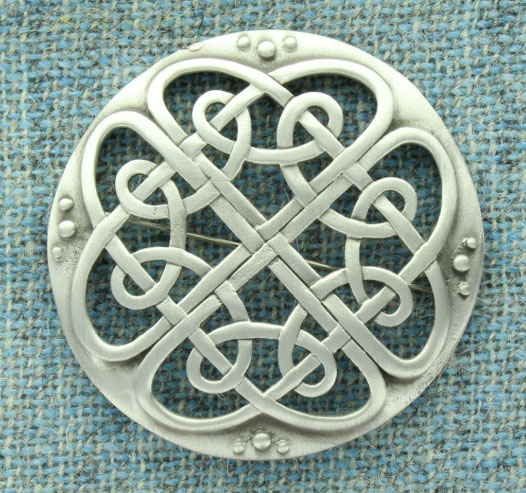 Brooch, Plaid, Large Cathedral