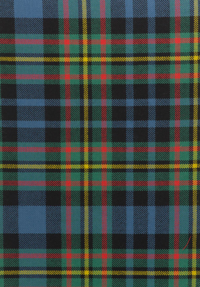 Fabric, Wool, Lightweight Twill, MacLellan Tartan