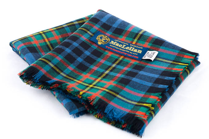 Square, Lightweight Wool Headsquare, MacLellan Tartan