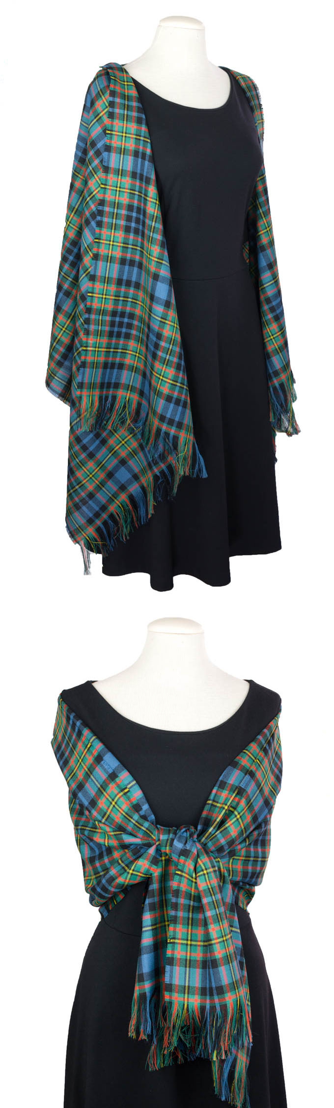 Stole, Lightweight Wool Tartan, plain weave
