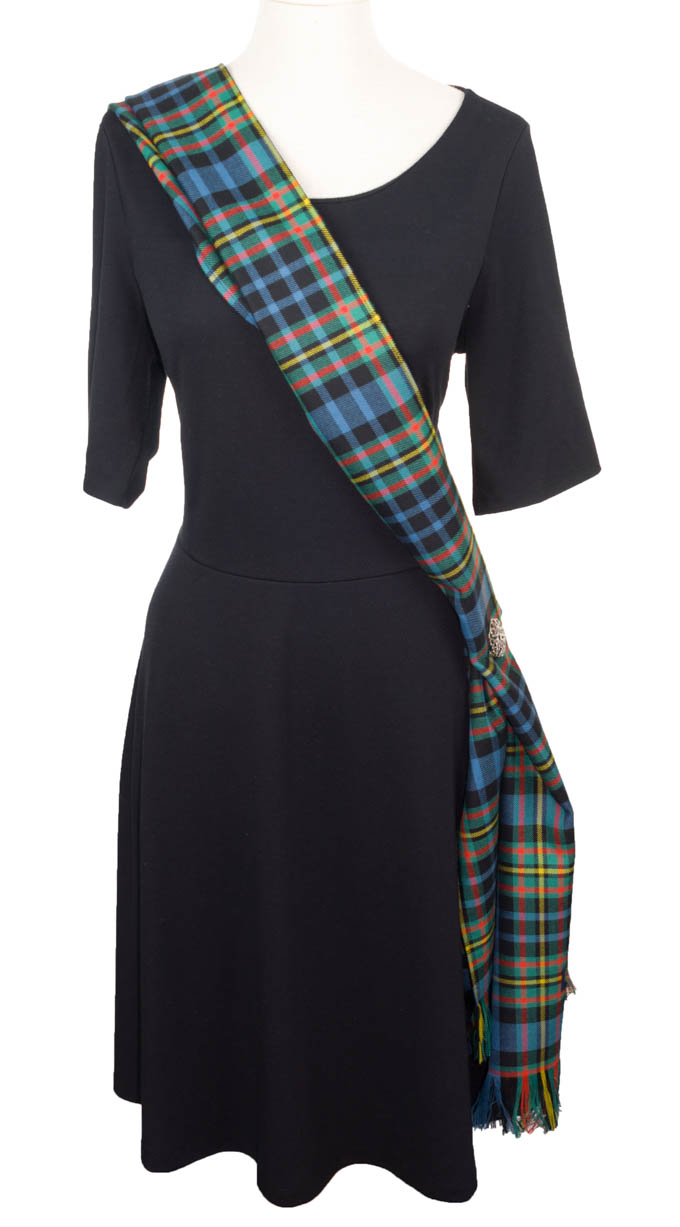 Sash, Long Scarf, Ladies, PLAIN Wool, MacLellan Tartan