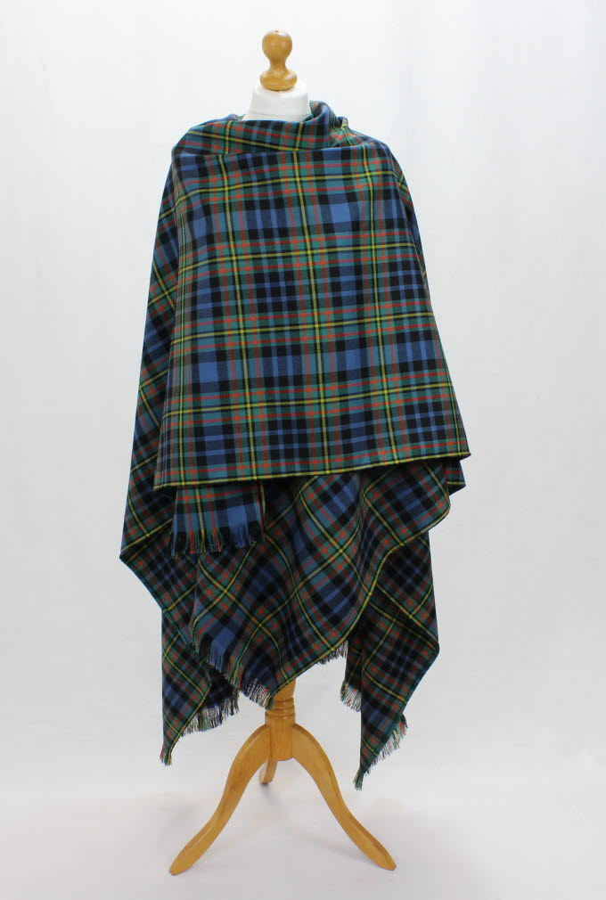 Serape, Lightweight Wool Twill in Maclellan tartan