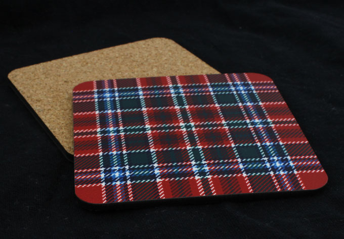 Coasters, Drinks Mats, in ANY Tartan