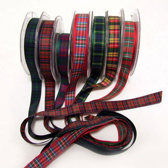 Ribbon, Tartan, Polyester 16mm
