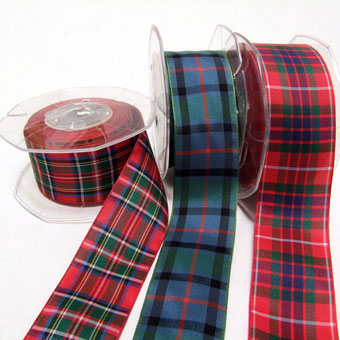 Ribbon, Tartan, Polyester 38mm