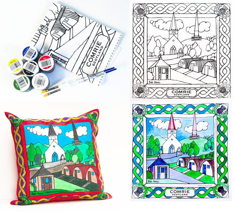 Crieff & Comrie Scenic Art Collection, Colouring Canvas