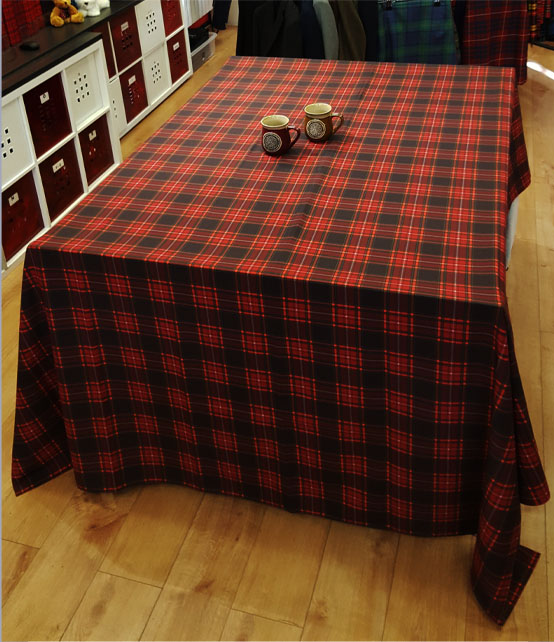 Table Cloth in ANY Tartan, Printed Canvas