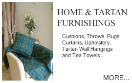 Home and Tartan Furnishings Cushions, Throws, Rugs, Furnishings, Foot Stool, Curtaining, Upholstery, Laptrays, Tartan Wall Hangings, Kitchen Stuff, Tea Towels