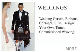 Weddings and Celebrations Scottish and Celtic culture is so rich that you may be spoilt for choice in incorporating that essentially Celtic flavour into your own wedding. Whether you wish to marry with full highland regalia, a tartan dress, a set of Tartan Handfastings, wedding ribbons or just add that little Scottish something.